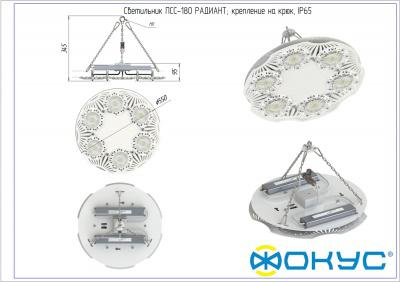ПСС 180 РАДИАНТ Д CRI 80 светодиодный светильник