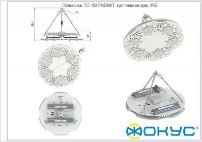 ПСС 180 РАДИАНТ с доп.оптикой CRI 80 светодиодный светильник
